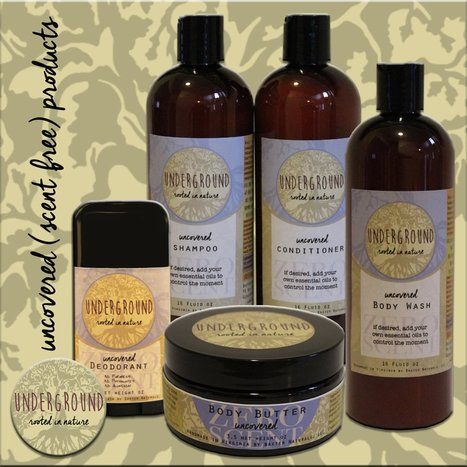 Underground Naturals Unscented, Scent Free, Fragrance Free Line of Products